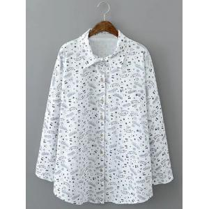 Loose-Fitting Star Print Shirt