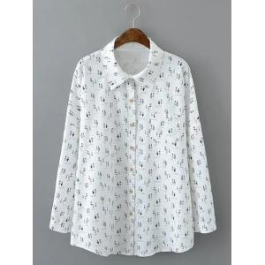 Loose-Fitting Bottle Print Shirt