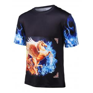 3D Horse Printed Short Sleeve Cool T-Shirt
