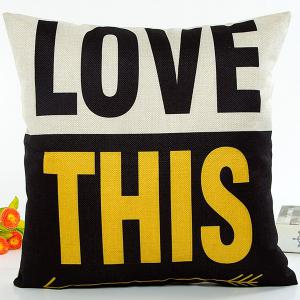 Color Block Jointing Love This letter Design Nap Pillow Case