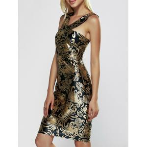 Sleeveless Print Bodycon Club Dress