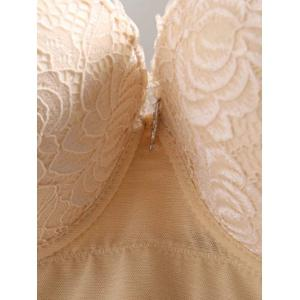 Push Up Lace Bra For Plus Size - YELLOWISH PINK 90D