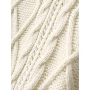 Mini Cable Knit Turtleneck Shift Dress - WHITE ONE SIZE