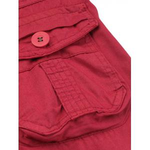 Multi-Pocket Straight Leg Zipper Fly Cargo Shorts -