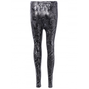 Elastic Snake Ninth Pants - BLACK ONE SIZE