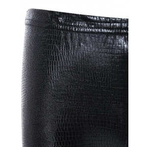 Elastic Snake Pencil Pants - BLACK ONE SIZE