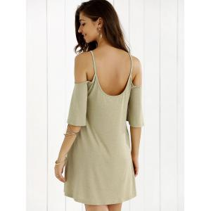 Hollow Out Spagheti Strap Shift Dress -