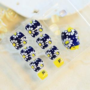 24 PCS Flower Pattern Nail Art False Toenails -