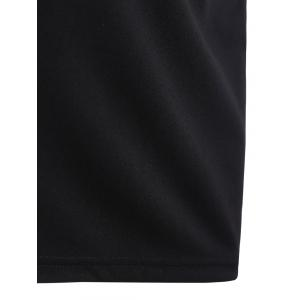 Cut Out Bodycon Dress - BLACK XL
