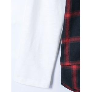 Plaid Patchwork Shirt -