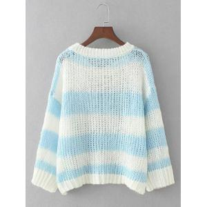 Striped Openwork Pullover Knitwear -