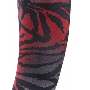 Elastic Waist Leopard Print Slimming Leggings - RED ONE SIZE