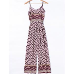 Bohemian Adjustable Strap Polka Dot Jumpsuit -