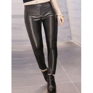 Plus Size Skinny PU Pants -