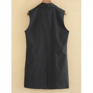 Striped Double Pockets Waistcoat -