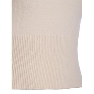 Ribbed Plain Skinny Slimming Knitwear -