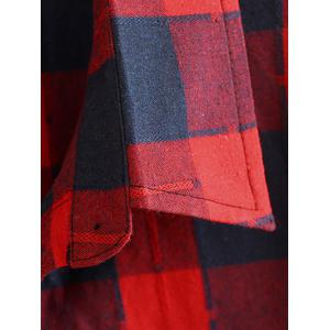 Checked Hemming Sleeves Shirt -