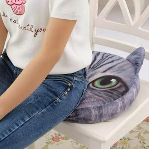 3D Short Plush Sponge Padding Nekolus Shape Sofa Cushion -