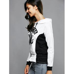 Ruffle Hooded Sweatshirt - WHITE XL