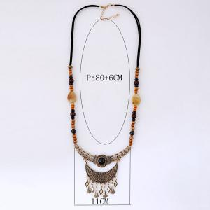 Half Moon Beaded Sweater Chain -