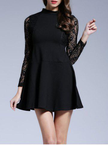 New Long Sleeves Lace See-Through Dress