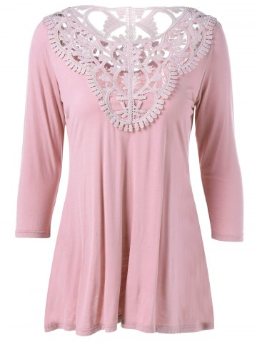 Outfits Lace Patchwork Comfy T-Shirt