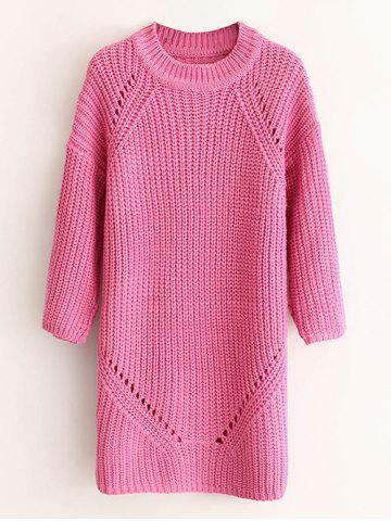 Thick Ribbed Side Slit Long Sweater