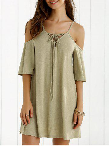 Chic Hollow Out Spagheti Strap Shift Dress