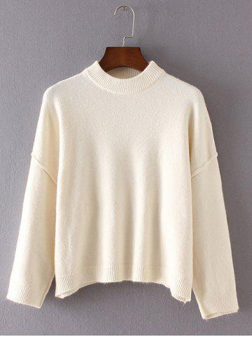 Loose Fitting Ribbed Dolman Sleeve Sweater