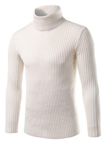 Store Turtle Neck Vertical Whorl Long Sleeve Sweater