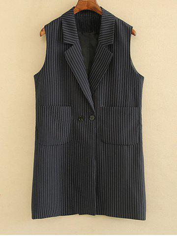 Fancy Striped Double Pockets Waistcoat