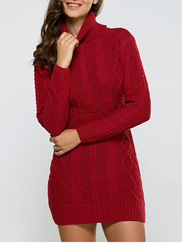 Chic Full Sleeve Cable Dress