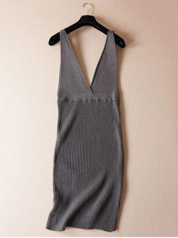 Trendy Stretchy Textured Knitted Dress
