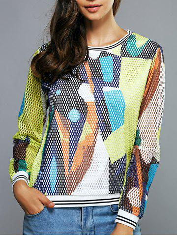 Outfits Colorful Mesh Blouse