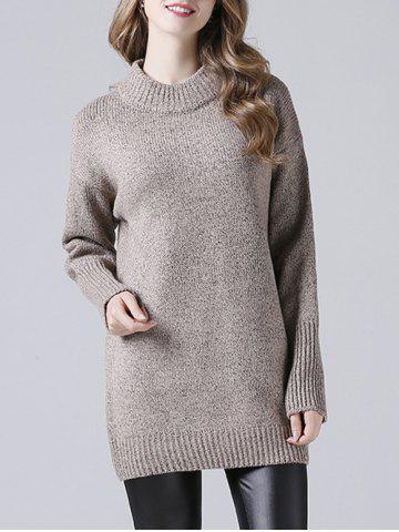 Ribbed Long Knitted Pullover