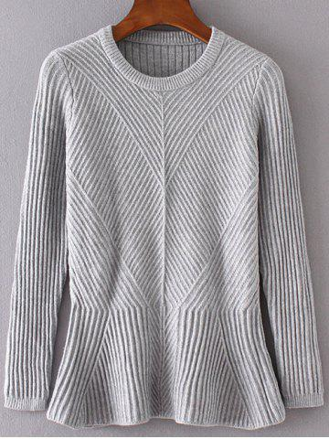 Hot Long Sleeve Slim Fitted Flounce Sweater