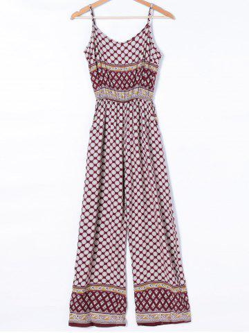 Discount Bohemian Adjustable Strap Polka Dot Jumpsuit