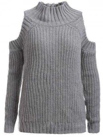 Cheap Ribbed Hollow Out Sweater