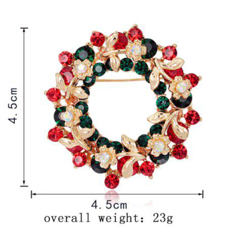 Outfits Flower Wreath Brooch - RED  Mobile