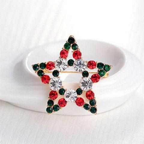 Outfits Rhinestone Star Brooch - BLACKISH GREEN  Mobile