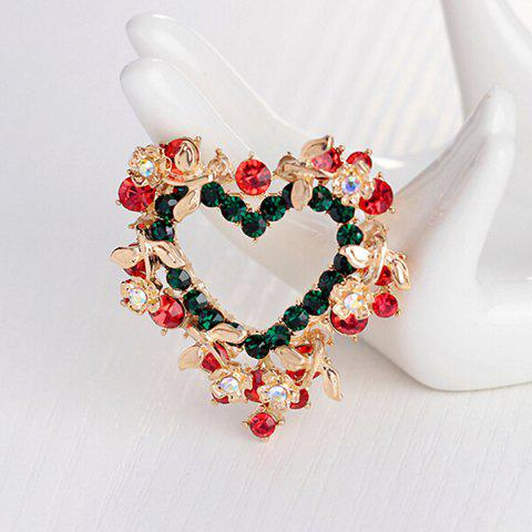 Unique Heart Wreath Brooch - RED  Mobile