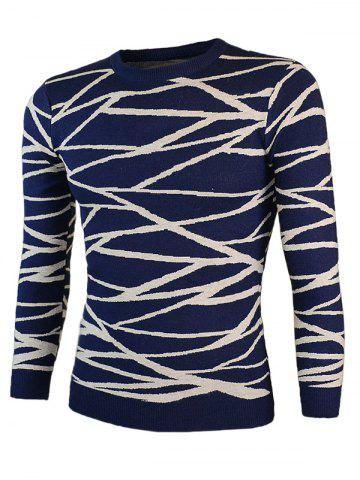 Hot Irregular Linellae Round Neck Long Sleeve Sweater