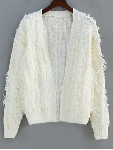 Outfits Collarless Fringes Cardigan