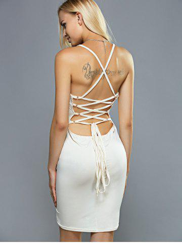 Affordable Cami Criss Cross Lace-Up Backless Bandage Strap Dress