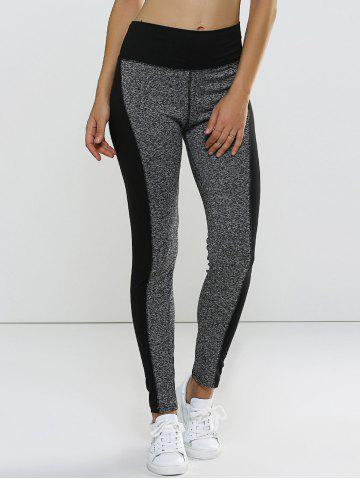 Shops Color Block High Waisted Sporty Leggings GRAY L