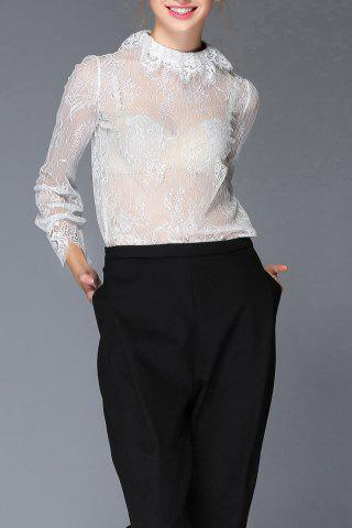 See Through Lace Blouse