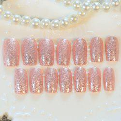 24 PCS Glitter Powder Nail Art False Nails -