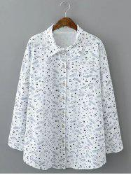 Loose-Fitting Star Print Shirt -