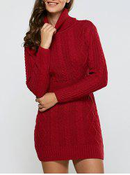 Full Sleeve Cable Dress -