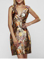 Sleeveless Print Mini Club Dress